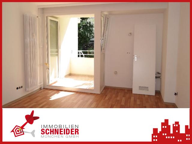 IMMOBILIEN SCHNEIDER – Schwabing – Sofort Bezugsfreies schönes 1 Zimmer Appartement mit Süd-Balkon und EBK