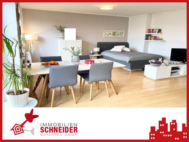 IMMOBILIEN SCHNEIDER – SCHWABING – großzügige 1 Zimmer-Wohnung im DG mit EBK