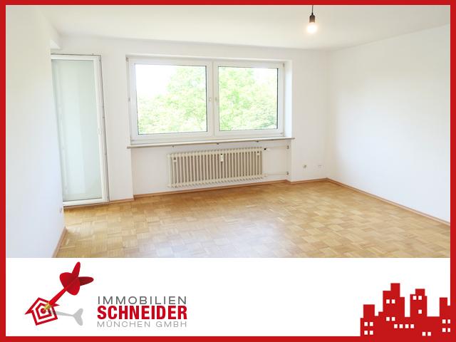 IMMOBILIEN SCHNEIDER – MILBERTSHOFEN – sonnige 2 Zi.-Whg. mit Süd-Loggia, EBK