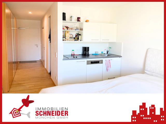 IMMOBILIEN SCHNEIDER – Ramersdorf 1 Zimmer Appartement mit EBK und Balkon
