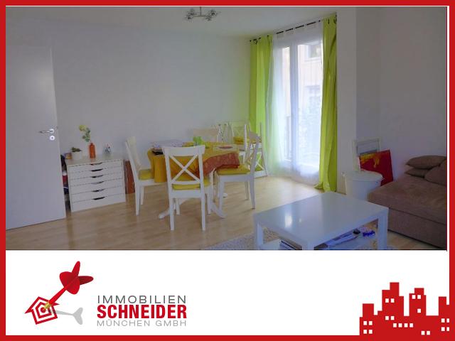 IMMOBILIEN SCHNEIDER – LUDWIGSVORSTADT schöne 2 Zimmer-Wohnung mit EBK, Balkon und Laminatboden