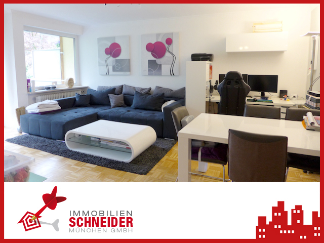 IMMOBILIEN SCHNEIDER – BALDHAM 3 Zimmer Wohnung mit Laminatboden und Süd-Balkon im Hochparterre