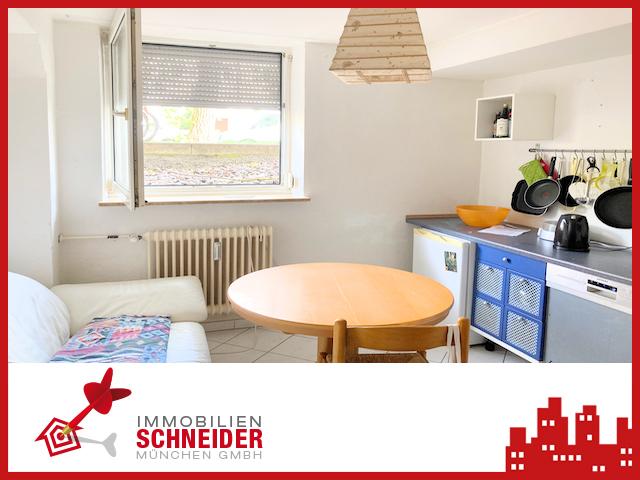 IMMOBILIEN SCHNEIDER – PASING – 1 Zimmer Souterrain Wohnung mit Duschbad