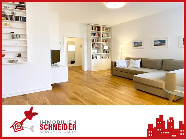 IMMOBILIEN SCHNEIDER – Obergiesing – tolle, renovierte 3 Zimmer Altbau Wohnung mit Balkon.