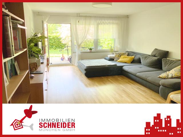 IMMOBILIEN SCHNEIDER – Trudering – wunderschöne 4 Zimmer Wohnung mit Parkettboden und Garten