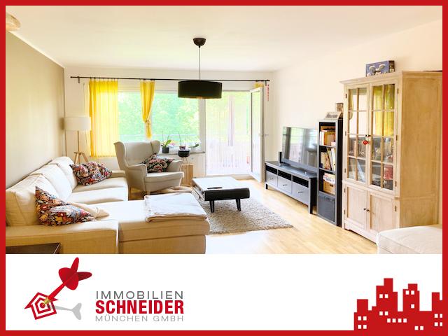 IMMOBILIEN SCHNEIDER – Trudering – wunderschöne 4 Zimmer Wohnung mit Balkon und Parkettboden