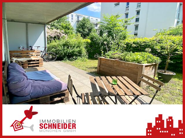 IMMOBILIEN SCHNEIDER – HACKERHÖFE – traumhaft schöne 2 Zi. Wohnung mit Parkett, Süd-Garten