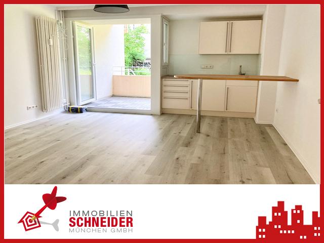 IMMOBILIEN SCHNEIDER – Schwabing – Wunderschönes, neu saniertes 1 Zi App. mit Süd-Balkon und EBK