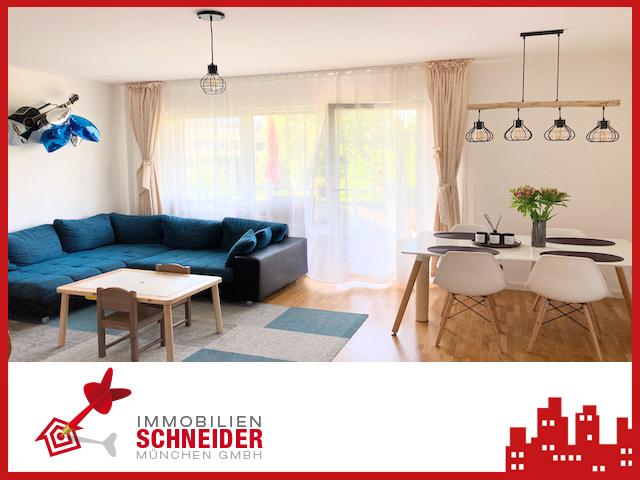 IMMOBILIEN SCHNEIDER – TRUDERING – wunderschöne 3 Zimmer Wohnung mit Süd-Balkon, Parkett, Gäste WC