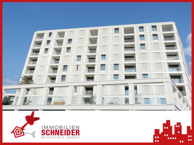 MMOBILIEN SCHNEIDER – Neupasing Neubau-Erstbezug – 6. OG – schöne, sehr helle 2 Zimmer-Wohnung