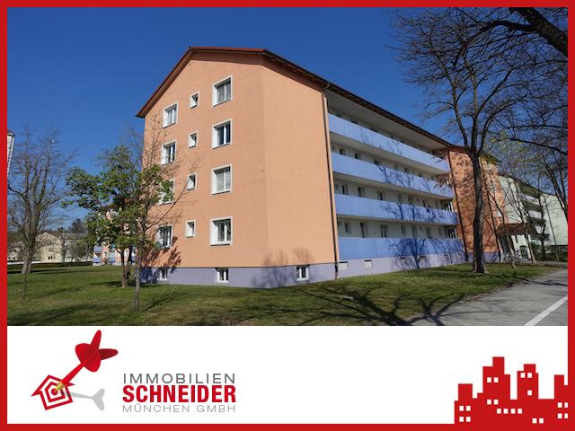 IMMOBILIEN SCHNEIDER – Feldmoching – Wunderschöne 2 Zi-Wohnung mit Wohnküche und Balkon