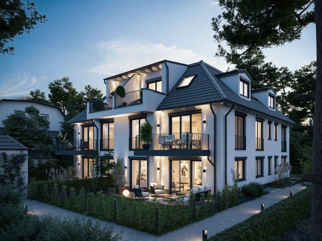 WALDPERLACH – IM BAU – Sonnenseite! 3 Zimmer mit 2 Bädern und großem Südbalkon