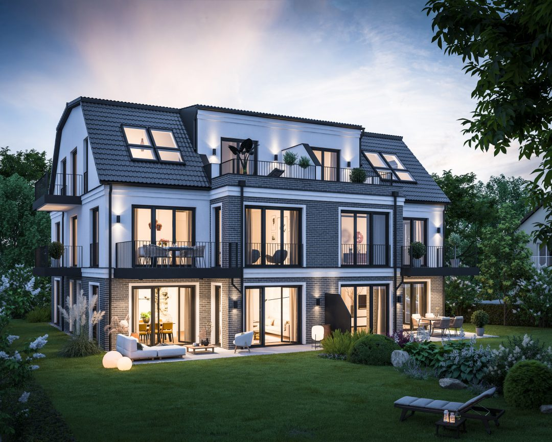 BOGENHAUSEN – IM BAU – Luxus-Gartenwohnung mit Traumgarten und zwei Hobbyräumen