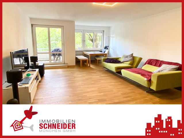 IMMOBILIEN SCHNEIDER – SCHWABING – Traumhaft schöne 2 Zimmer Wohnung mit West-Balkon, EBK u. Parkett
