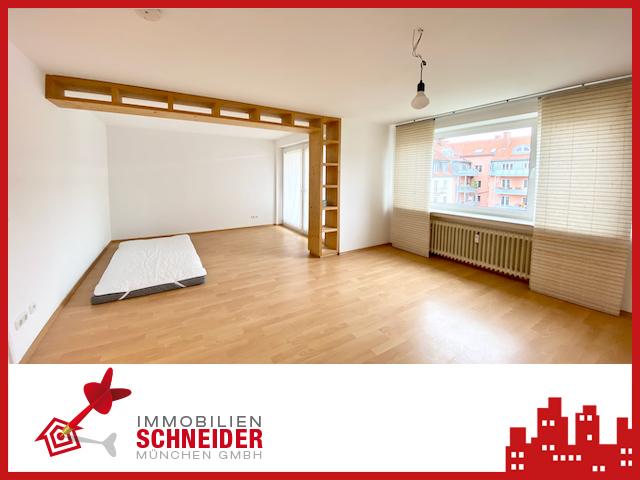 IMMOBILIEN SCHNEIDER – Schwabing – schönes renoviertes 1 Appartement mit Einbauküche, Parkettboden & Balkon